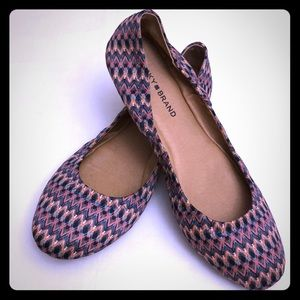 LUCKY BRAND Sz 10 Boho Style Ballet Flats